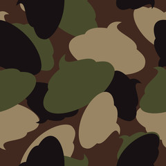 Army pattern of turd. Military camouflage texture Vector shit. S