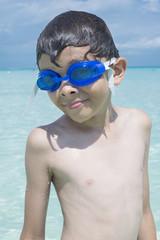 Little boy on summer vacation
