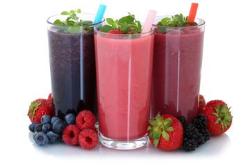 Smoothie Saft mit Früchte Fruchtsaft Freisteller