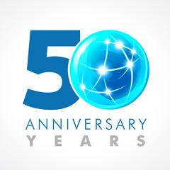 50 anniversary connecting logo