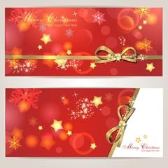 Set mit zwei Weihnachtskarten