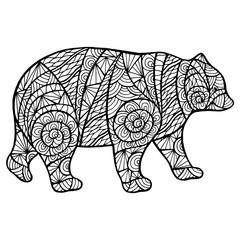 Stylized bear zantangl