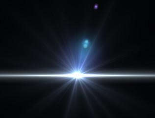 Luce raggio di sole luminoso nello spazio
