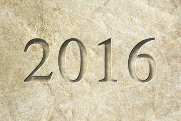 Engraved New Year 2016