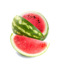 cut water melon isolated on white