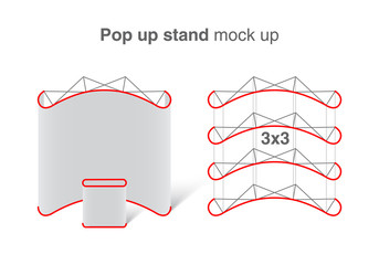 Pop up stand vector mock up.