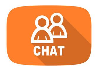 chat flat design modern icon