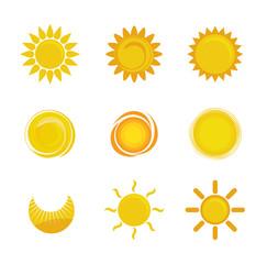 Summer sun design.