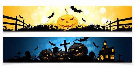 Set of Halloween Banners