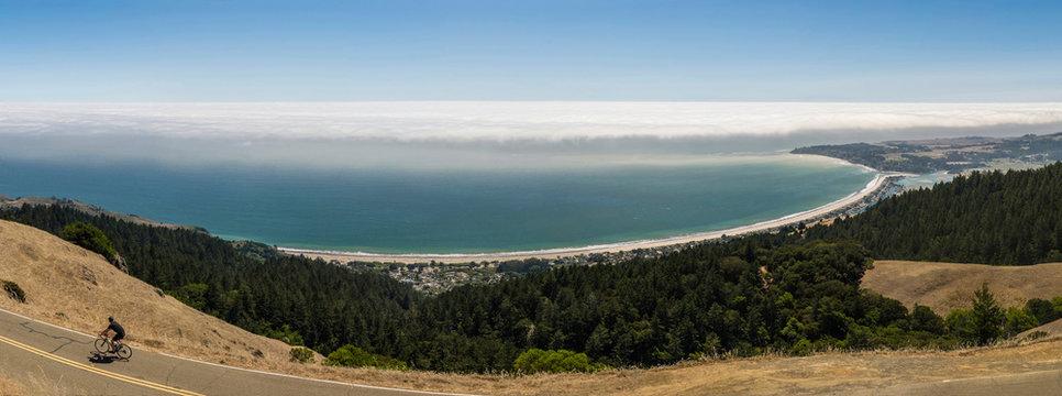 Stinson Beach panorama from Mount Tamalpais