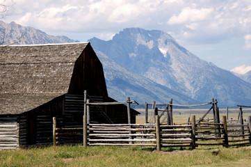 Famous historic Moulton Barn at Grand Teton National Park