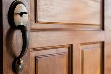 Wooden Door with Knob