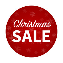 Merry Christmas sale promotion hanging display poster / sticker