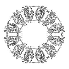 Abstract zentangle frame