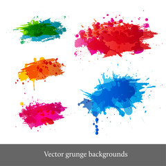 Set of bright grunge backgrounds.