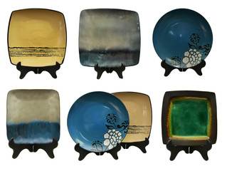 Collection of japanese plates