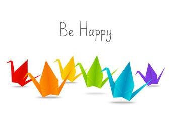 Paper origami cranes for Your design