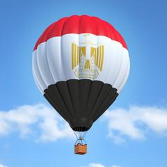 Hot air balloon with Egyptian flag
