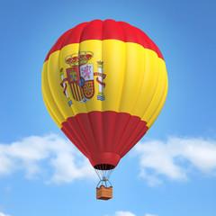 Hot air balloon with Spanish flag
