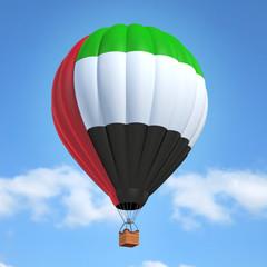 Hot air balloon with United Arab Emirates flag