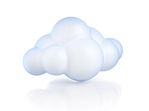 Glossy cartoon cloud