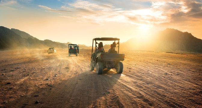 Buggies in desert