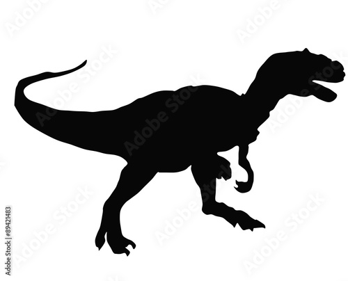 silhouette of an Allosaurus