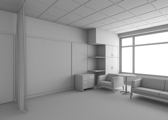 Rest Room In The Hospital In Grey
