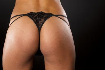 Black Thong Panties