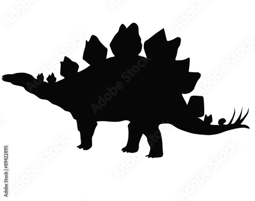 silhouette of a Stegosaurus
