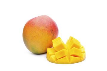 Mango fruit on white background
