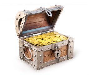treasure chest 3d illustration