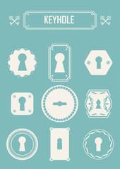 Vector Illustration of vintage keyholes.