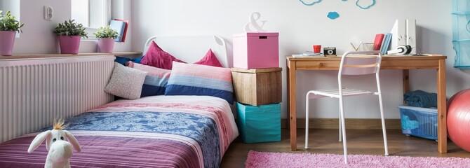 Functional room with sleeping area