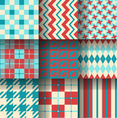 Seamless pattern background. Pattern Swatches made with Global Colors - quick, simple editing of color.