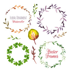 Vector Illustration. Hand-painted watercolor design elements.