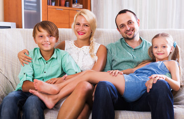 Portrait of middle class family