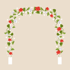 Arch with flowers. Vector Illustration