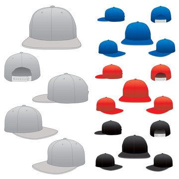 Vector Hat Cap Template