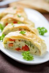 Veganer Gemüse-Blätterteigstrudel