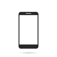 Phone flat icon with shadow