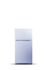 White refrigerator. Fridge freezer isolated on white