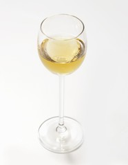 A glass of Aquavit (caraway-flavoured spirit)