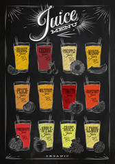 Poster juice menu chalk