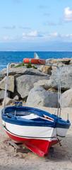 Barca di rientro dalla pesca a Briatico