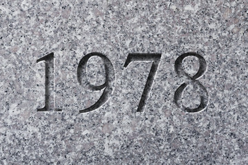 Engraved Historical Year 1978