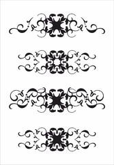 Decorative heart line pattern
