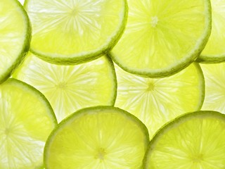 Lime slices (macro-zoom)