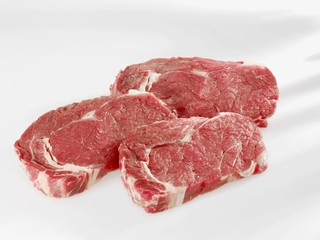 Three entrecote steaks
