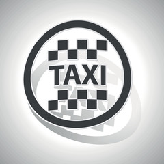 Taxi sign sticker, curved